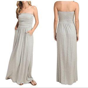 Vanilla Bay Athena Stratagem Strapless Maxi Dress